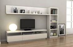 17 veces he visto estas agraciadas muebles minimalistas. Tv Unit Furniture, Furniture Design, Modular Furniture, Tv Wall Design, House Design, Home Living Room, Living Room Decor, Living Room Tv Unit Designs, Muebles Living