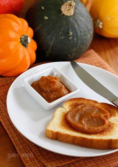 Pumpkin Butter | Skinnytaste- just made this and put 1/4 cup of pumpkin butter and 1 c milk in my nutribullet-then I poured it into an old coffee creamer bottle- this is delicious in my coffee!