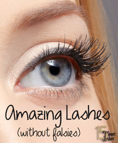 Amazing eye lash tips.  How to look like you have on falsies without the hassle.