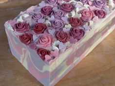 A pretty melt and pour soap with the look of a cold-process soap. Description from pinterest.com. I searched for this on bing.com/images