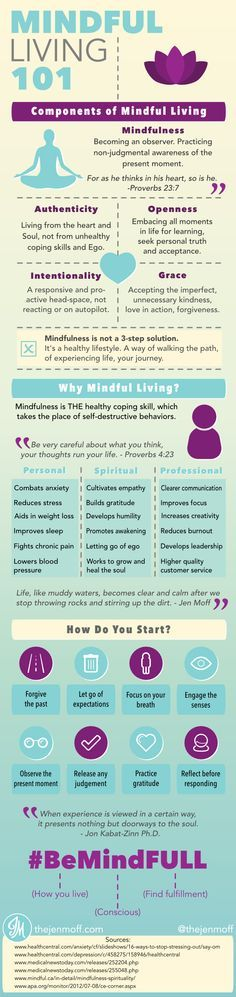 Mindful Living 101 Infographic