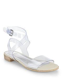 f57992f01cb Stuart Weitzman Translucent Flat Sandals