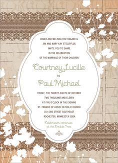 Vintage Country Wedding Invitation Suite