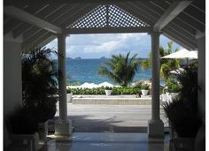 Beach From Lobby of  Isle de France Hotel in St. Barts