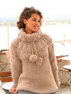 Basic patterns - Free knitting patterns and crochet patterns by DROPS Design Hand Knitted Sweaters, Sweater Knitting Patterns, Knitting Stitches, Knit Patterns, Free Knitting, Clothing Patterns, Drops Design, Handgestrickte Pullover, Stockinette