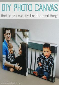 DIY Photo Canvas That Looks Exactly Like The Real Thing - Lovely Etc.