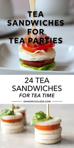 Tea Time Snacks, Snacks Für Party, Appetizers For Party, Sandwiches For Parties, Easy Finger Sandwiches, Finger Foods For Party, Tea Party Snacks, Tea Party Menu, Delicious Sandwiches