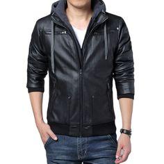 Jaqueta de Couro Masculina   De R$256,00 Por R$194,90    OFERTA DO DIA!! Compre…