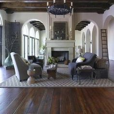Colors for Your Home - Room Decor and Paint Colors for Home Interior & Exterior : Home & Garden Television Style At Home, Colonial Style, Spanish Colonial, Spanish Style, Spanish Design, Spanish House, My Living Room, Living Spaces, Old Shutters