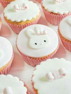 . #cupcake #white #bunny
