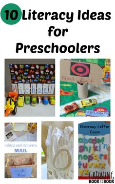 Fun and playful literacy ideas for preschoolers to work on reading and writing skills.