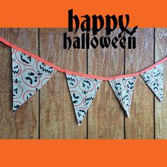 Halloween Burlap Doublesided Banner Holiday by QueensBanners