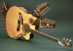 Pat Metheny's 42-string Pikasso Guitar. Fun to tune I'm sure...