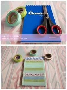 Prettify your notebook covers using washi tapes!