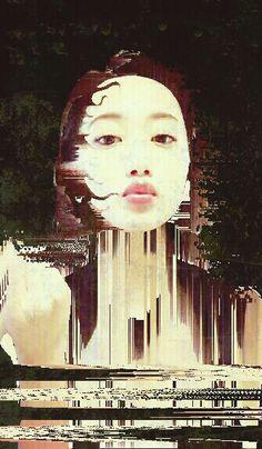 """Matilda"" edit of Japanese model Matilda. Fotor, Glitch and Photosuite."