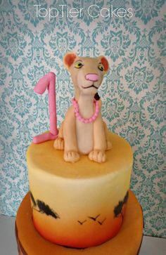 Nala lion king animal print cake. Made by Amber Adamson of Top Tier Cakes for All Occasions in Wenatchee, WA.  Come find me on Facebook!!