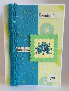 Handmade Handcrafted Peacock Card Beautiful Fabulous YOU ANY Occasion   eBay