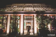 stunning night time picture of Tower Hill Orangerie wedding. Photo by Katie Hall.