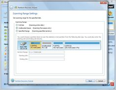 recover partition with partition wizard set scanning range