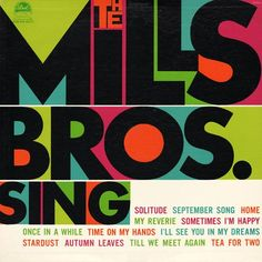 The Mills Bros. Sing, LP cover, 1960