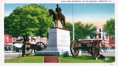 """The Picket"" Civil War Memorial postcard from Hanover, Pa."