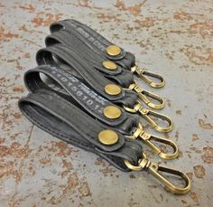 Key Lanyard //made from #upcycled bike inner tube #madeinusa  www.evenodd.us