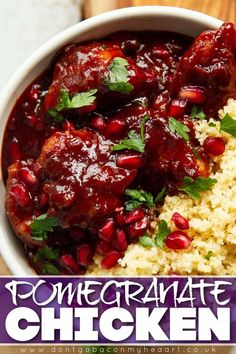 This Pomegranate Chicken is sweet, sticky, tangy and loaded with so much flavour. Plus, it couldn't be easier to make! | www.dontgobaconmyheart.co.uk Smiley Potatoes Recipe, Potato Recipes, Chicken Recipes, Good Food, Yummy Food, Yummy Recipes, Pork Bacon, Meat Chickens, Food Videos