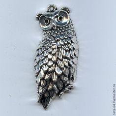 Купить Филин - серебряный, украшения ручной работы, авторские украшения, фурнитура для украшений, фурнитура для бижутерии