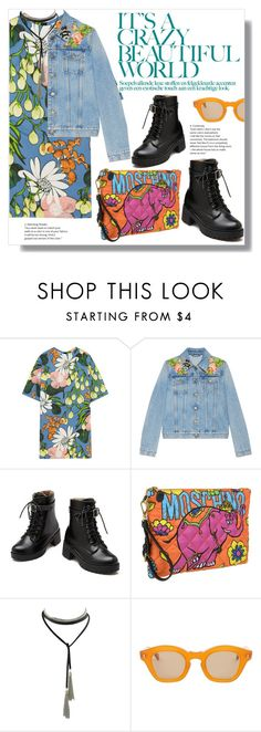 """""""Crazy Prints"""" by yoo-q ❤ liked on Polyvore featuring Marni, Gucci, Moschino, Hakusan, contestentry and crazyprint"""