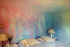 Brilliant example of lazure painting. since i missed the lesson at Waldorf. And I think this is how my Living room would look amazing. Lazure Painting, Painting Art, Pintura Patina, Watercolor Walls, Mural Wall Art, Wall Finishes, Paint Designs, Cheap Home Decor, Home Decor Accessories