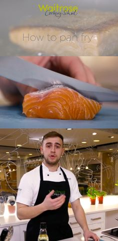 Russell from the Waitrose Cookery School shows you how it easy it is to pan fry fish. Watch the video recipe on the Waitrose website. Pan Fried Fish, Food Videos, Seafood, Fries, Good Food, Website, Watch, Recipe, Live