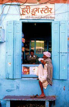 A village drug store, India