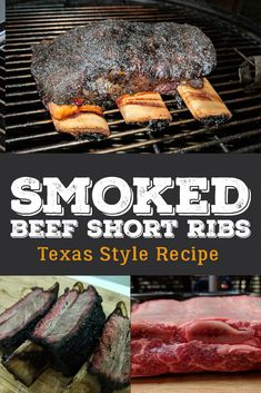 Skip the sweet rubs and sauces and let the beef flavor shine through in this recipe to Texas Style Barbecue Beef Short Ribs. via Smoked BBQ Source Grilled Short Ribs, Smoked Beef Short Ribs, Bbq Short Ribs, Grilled Beef, Smoked Brisket, Smoked Pork, Roast Brisket, Beef Tenderloin, Smoked Meat Recipes