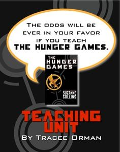 The odds will be ever in your favor if you teach The Hunger Games by Suzanne Collins. Need help? Try The Hunger Games Teaching Unit: Lessons Q Tests Activities Quiz Vocab and more. Hunger Games Activities, Hunger Games Novel, School Resources, Teaching Resources, Teaching Ideas, 6th Grade Ela, Classroom Fun, Future Classroom, Teaching Reading