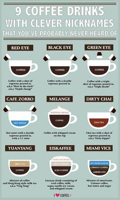 9 Coffee Drinks with Clever Nicknames #coffee