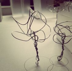 Wire tree models.