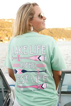 NEW! Lake Life is the Best Life - SS Pocket -  LOVE LOVE LOVE this new t-shirt! Perfect for boat days! WWW.JADELYNNBROOKE.COM