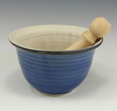 Blue Suribachi Surikogi Webb Pottery (Mortar and Pestle)
