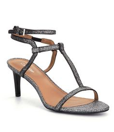 b7b3fb2884 Dark Silver Calvin Klein Crewella Dress Sandals. Teli Hall · Prom shoes