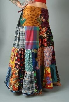 Make this out of the scrap fabric from the other skirts