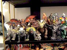 The many friends and foes of Godzilla! Destroyah, Anguiras, Baragon, Titanosaurus, Hedora the Smog Monster, Jet Jaguar