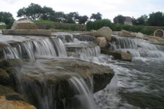 waterfalls, large waterfalls, boulder waterfalls, commercial installations, golf course waterfalls, pond maintenance,