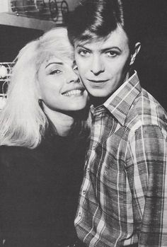 Blondie & Bowie  It's just as well they didn't have kids together - the universe couldn't cope with that much talent, charisma and beauty in one skin.