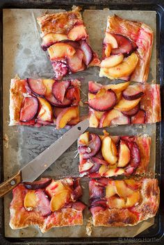 Rustic Peach and Plum Tart | Eyes Bigger Than My Stomach #desserts #dessertrecipes #yummy #delicious #food #sweet