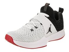 d8a40410f NIKE Jordan Trainer 2 Flyknit Mens Training Shoes White Black-Black-Gym Red  (10.5 D(M) US) Clout Wear
