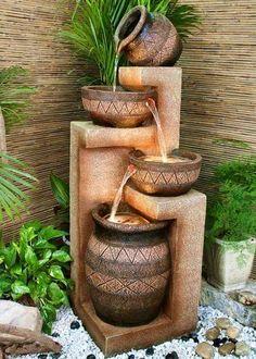 Mejores 17 Imagenes De Fuentes Decorativas Para El Patio En - Fuentes-ornamentales-para-jardin