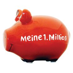 Sparschwein Meine 1. Million - KCG #piggy #piggybanks #coin  #banks #money #boxes