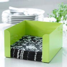 Zelený box na obrúsky Steel Function