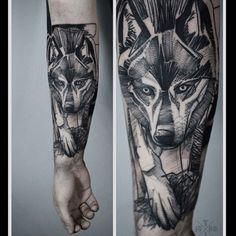 #wolftattoo by @timur_lysenko /// #Equilattera #tattoo #Tattoos...