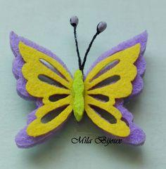 farfalla fustellata in feltro, by Mila Bijoux, 1,00 € su misshobby.com